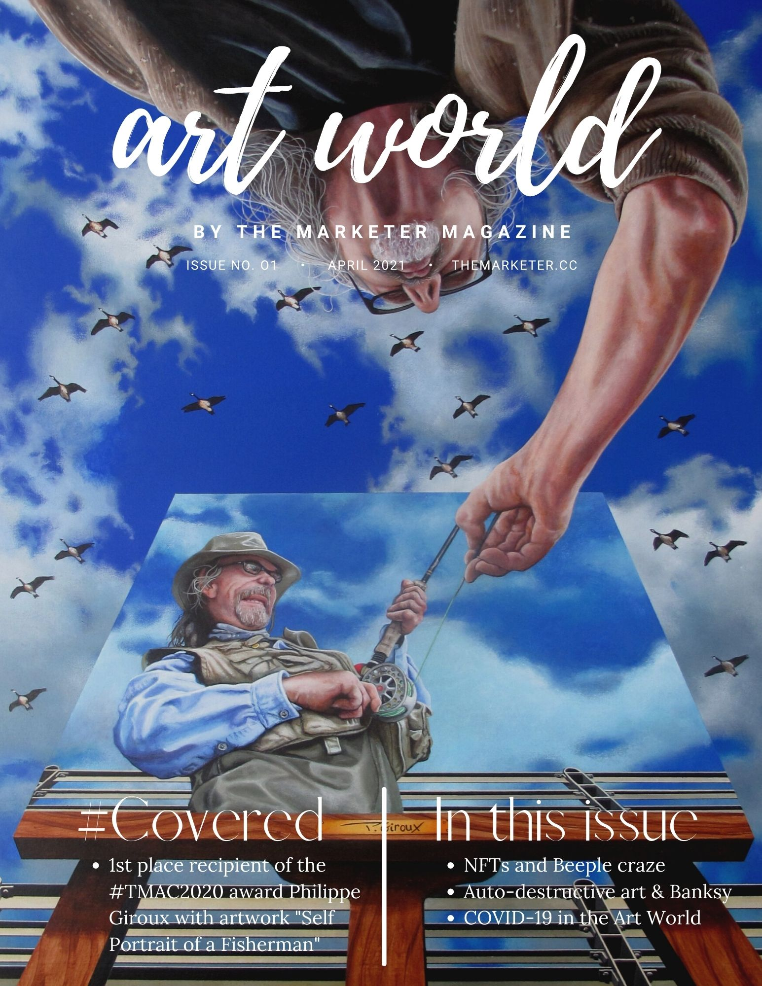 The Cover for The Art World by The Marketer Magazine Volume 1 April 2021